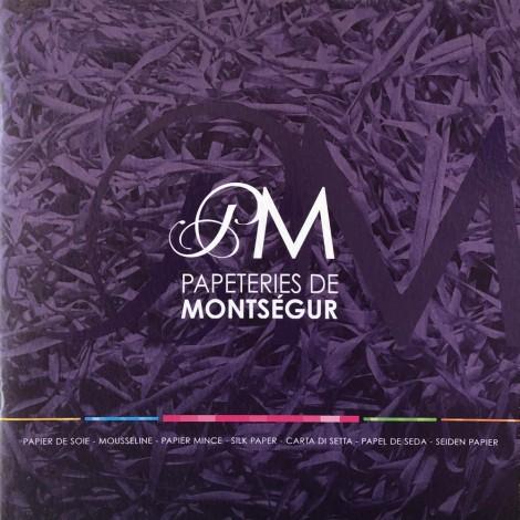 Couverture Nuancier des papiers de soie Montségur